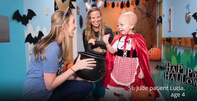 Halloween fun with St. Jude patient Lucia