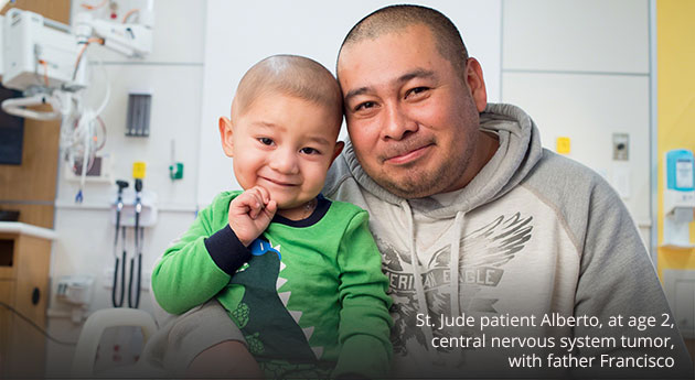 St. Jude patient Alberto, and his dad Francisco