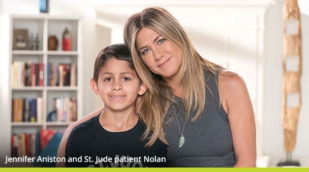 Jennifer Aniston and St. Jude patient